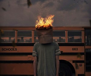 fire, school, and grunge image