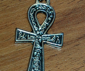 goth, gothic, and ankh image