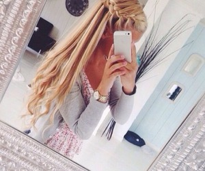 beautiful, braid, and fancy image