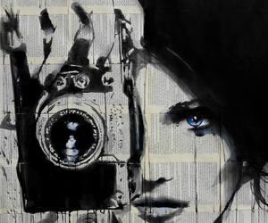 art, black, and camera image