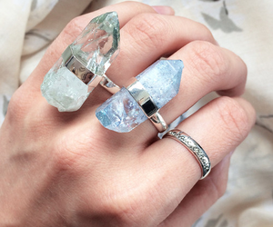 crystal, ring, and rings image