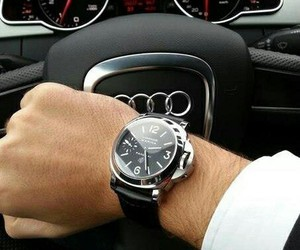 audi, car, and watch image