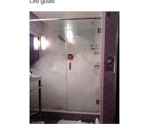 funny, goals, and shower image