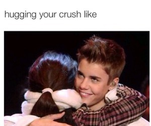 justin bieber, crush, and hug image