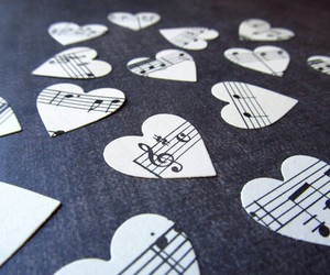 music, hearts, and world image