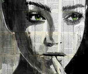 art, eyes, and green eyes image