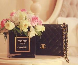 chanel, flowers, and bag image