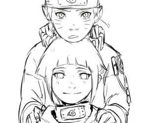 naruhina, anime, and hinata image