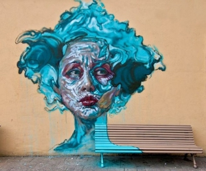 bench, photography, and street art image