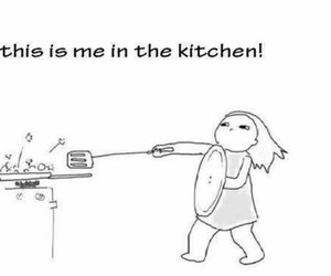 me, funny, and kitchen image