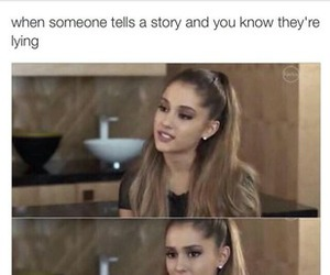 lie and arianagrande image