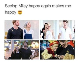 miley cyrus, couple, and happy image