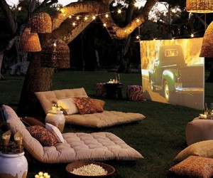 movie, light, and garden image