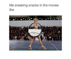 funny, movies, and snack image