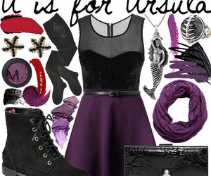 disney, outfit, and ursula image