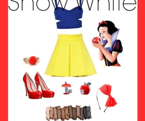 disney, outfit, and snow white image