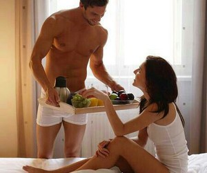 body, couple, and food image