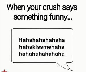 funny, crush, and kiss image