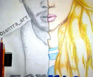 drawing, perrie edwards, and zerrie image
