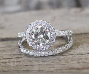 wedding, diamond, and ring image