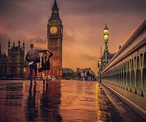 london, Big Ben, and couple image