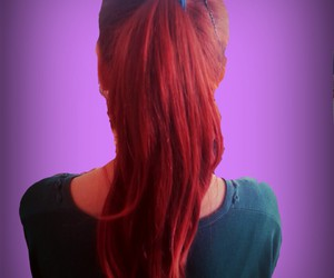 beautiful, hair, and red image