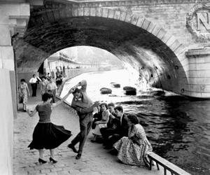 dance, black and white, and paris image