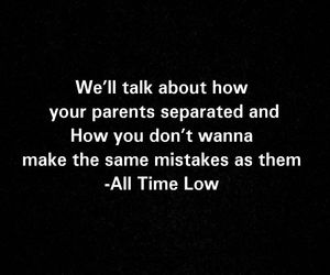 all time low, divorce, and Lyrics image