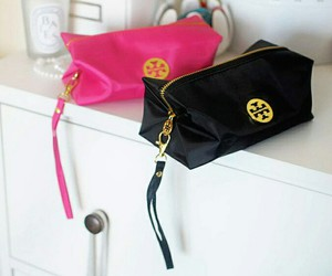 bag, cosmetics, and gold image