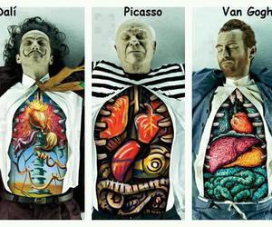 art, picasso, and van gogh image