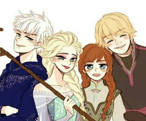anna, elsa, and jack frost image