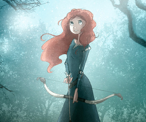 brave, merida, and red hair image