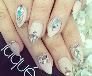 nail jewels, 3d nail designs. nail art, and nails image