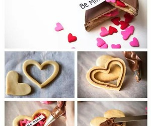 love, chocolate, and heart image