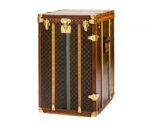 cabinet, monogram canvas, and brass trunk image
