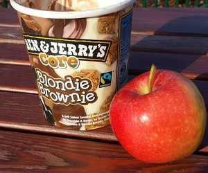 apple, ice cream, and outside image
