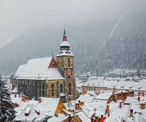 snow, winter, and romania image