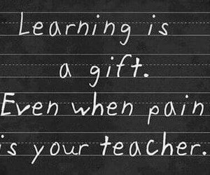 quote, pain, and learning image