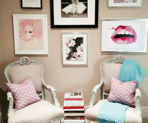books, girly things, and home decor image