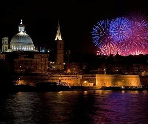 fireworks and malta image