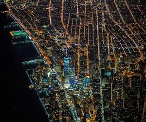 new york, night, and city image