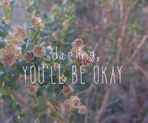 darling, quote, and flowers image
