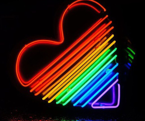 glow, heart, and neon lights image