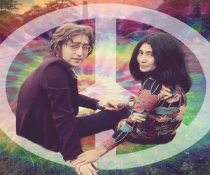 70's, hippie, and john lennon image
