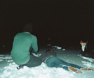 snow, boy, and grunge image