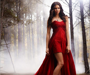 red dress, the woods, and nina image