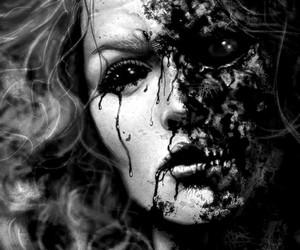 black and white, horror, and varnuak image
