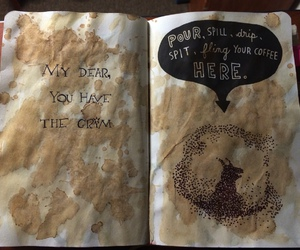coffee, wreck this journal, and diy image