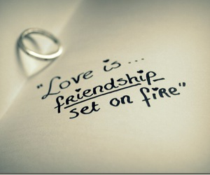 love, friendship, and quote image