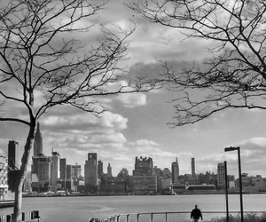 b&w, New Jersey, and park image